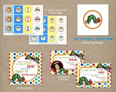 Custom Printable Very Hungry Caterpillar by thepaperblossomshop, $35.00