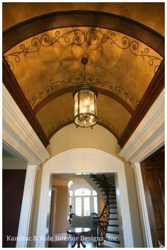 Faux Painted Ceilings Design Ideas, Pictures, Remodel, and Decor - page 4 Barrel Ceiling, Dome Ceiling, Floor Ceiling, Ceiling Fan, Faux Painting, House Painting, Ceiling Painting, Hidden Lighting, Stencils