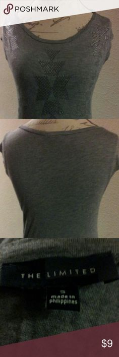 The Limited Textured Top/Tshirt Grey Black Silver Textured Shirt With Shapes & Designs.This Item Is Not From A Smoke Free Home Thank You For Visiting My Closet. The unlimited Tops Tees - Short Sleeve