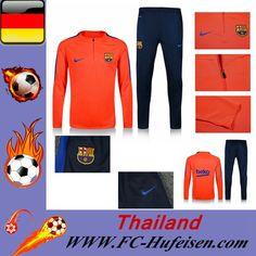 Offizielle Neue Trainingsanzüge Fussball Herren Kits FC Barcelona Orange Saison 2016 2017 Online Bestellen Kaufen