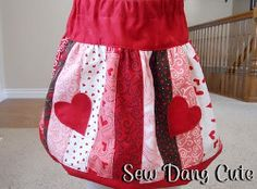 Be Mine Bubble Skirt Pattern. Make your little girl a special Valentine's Day outfit with the Be Mine Bubble Skirt Pattern. This adorable skirt has stripes of festive fabric and cute heart shaped pockets. It's an easy bubble skirt tutorial that's perfect for your sweetie.