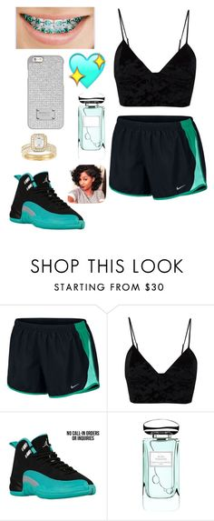 """""""Feeling mii self 👅😻!"""" by theyadoretrisha ❤ liked on Polyvore featuring NIKE, Fleur du Mal, By Terry and Michael Kors"""