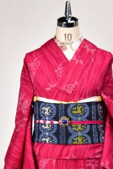 <Img class = 'new_mark_img1' src = 'http: //shimaiya.jp/img/new/icons6.gif' style = 'border: none; display: inline; margin: 0px; padding: 0px; width: auto;' /> classic pattern adorable wool single kimono opera Rouge