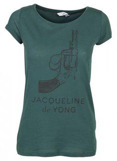 JDY Hope SS Gun Print Top Ponderosa Pine/Gun - T-shirts - Apparel - Woman käyttäjältä Saana | We Heart It