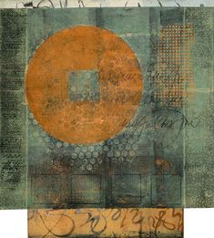 "Entrance to Silence, by Anne Moore, monotype, 15.5""X14"""