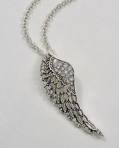 Angel Wing Necklace. I need this necklace in my life.