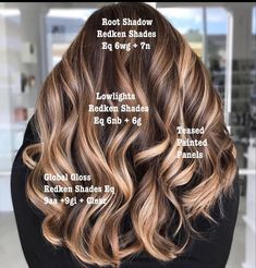 Brunette Hair Color With Highlights, Balayage Hair Blonde, Brown Blonde Hair, Brunette Color, Bayalage, Hair Highlights, Redken Shades Eq, Hair Color And Cut, Cool Hair Color