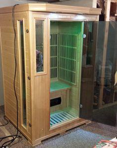 Good Health Saunas GS 2-Person Signature Series Sauna. Enjoy your sauna! #infrared #saunas #happycustomers