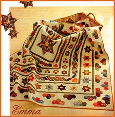 Emma- this is a beautiful quilt!  It is going to be a monthly installment in a Swiss or Dutch magazine (the Blog was a tad confusing...)
