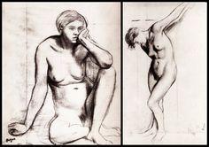 Edgar Degas Collection I (Nude Sketch)
