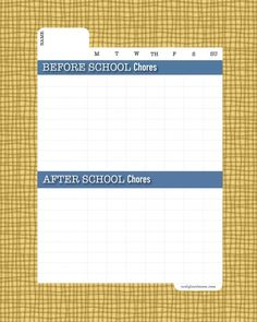 DIY Dry-Erase School Chore Chart (Before & After School)