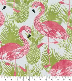 Tropical Printed Fabric Panel Make A Cushion Upholstery Craft