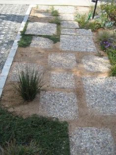 images pea gravel garden with stepping stones path