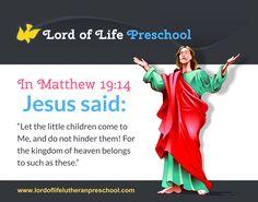 In Matthew 19:14 Kingdom Of Heaven, Jesus Quotes, Infographics, Preschool, Lord, Let It Be, Sayings, Infographic, Kindergarten