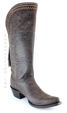 Lucchese 1883 Womens Western Vera Tobacco Distressed Cowhide Leather M4910