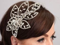 VINTAGE INSPIRED DESIGNER SIDE ACCENT TIARA HAND CRAFTED TO ORDER