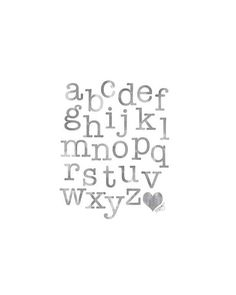 Black and White Nursery ABC Watercolor by OutsideInArtStudio, $18.00