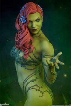 Batman - Poison Ivy Premium Format Statue by Sideshow Collectibles Dc Comics, Fiery Red Hair, Joker And Harley Quinn, Sideshow Collectibles, Gotham, Rogues, Mythology, Comic Art, Sculpting