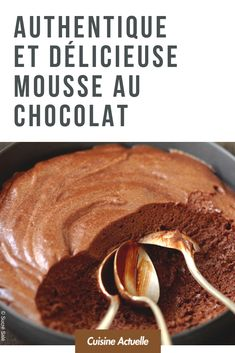 Authentic and delicious chocolate mousse – Recipes - Dessert Chocolate Mousse Recipe, Delicious Chocolate, Chocolate Recipes, Cake Recipes, Snack Recipes, Dessert Recipes, Butter Pancakes, Fluffy Pancakes, Desserts With Biscuits