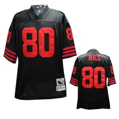 80 Rice black San Francisco 49ers NFL Mitchell and Ness Jersey  ID 990605094 20 b394710d7
