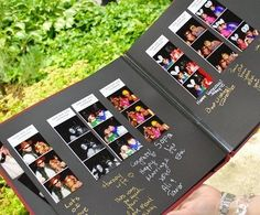 Def having a photobooth at my wedding, so obviously this would be necesscary. Photobooth Guest Book LOVE THIS Mod Wedding, Wedding Events, Wedding Reception, Wedding Coordinator, Trendy Wedding, Party Events, Reception Ideas, Perfect Wedding, Dream Wedding