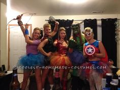 Homemade Avengers Girls Group Costume... This website is the Pinterest of costumes