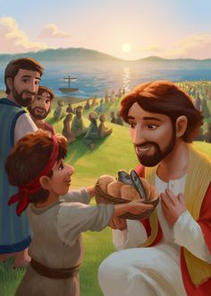 World Vision Easter Storybook on Behance Bible Cartoon, Jesus Cartoon, Pictures Of Jesus Christ, Bible Pictures, Bible School Crafts, Bible Crafts, Jesus Artwork, Bible Doodling, Bible Illustrations