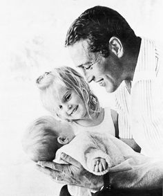 Paul Newman with his daughters Clea & Lissy - proof that cool, sexy dads are not a recent invention