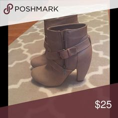 Tan Boots. Never Worn! Bought these from Nordstrom and threw away receipt. My feet must have grown because these are now too small. Never before been worn Shoes Ankle Boots & Booties