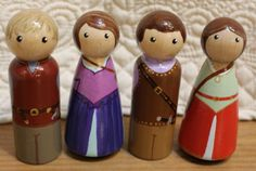 Chronicles of Narnia - Hand Painted Wooden Peg Dolls-4 by HenriettasCabin on Etsy https://www.etsy.com/listing/225057140/chronicles-of-narnia-hand-painted-wooden