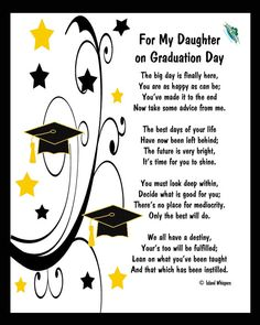 graduation for daughter items similar to for my daughter on graduation day poem digital