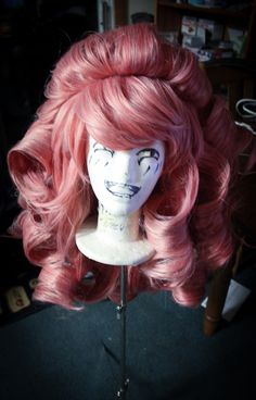 Rose Quartz Wig ProgressI've posted some pics on instagram so here are some good progress and finish shots. Since I have not messed with giant curls I got some help from this tutorial. I can't wait to work on the dress for colossal!