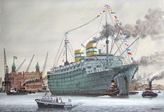 - - - - Haven Rotterdam Rotterdam, Holland America Line, Ship Drawing, Central And Eastern Europe, Old Port, Nautical Art, Yacht Boat, Ship Art, Battleship
