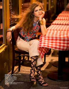 visual optimism; fashion editorials, shows, campaigns & more!: hippie glam 70's: yulia serzhantova by benjamin kanarek for harper's bazaar china january 2015