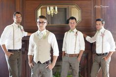 groomsmen? I could do suspenders or vests