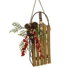 Burlap Sled Ornament http://shop.crackerbarrel.com/Burlap-Sled-Ornament/dp/B0127HPFN0