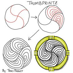 Thumbprintz~Zentangle - More doodle ideas - Zentangle - doodle - doodling - zentangle patterns. zentangle inspired - #zentangle #doodling #zentanglepatterns