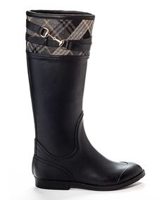 Look at this Henry Ferrera Black Edge Rain Boot on #zulily today!
