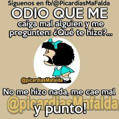 Mafalda con sus repuestas inteligentes