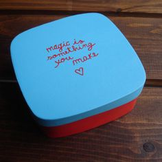 Painted Box by wishesheroes on Etsy, €7.00