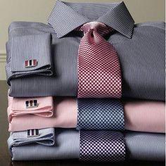 Charles Tyrwhitt make 'em want to wear a tie! Sharp Dressed Man, Well Dressed Men, Mens Fashion Suits, Mens Suits, Men's Fashion, Fashion Trends, Stylish Men, Men Casual, Shirt Tie Combo