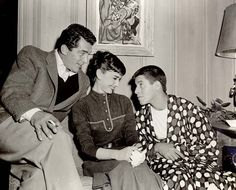 Dean Martin, Audrey Hepburn and Jerry Lewis. Dream dinner guests!