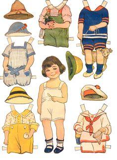 bonecas de papel - paper dolls