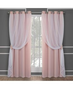 Buy Exclusive Home Curtains Catarina Layered Solid Blackout and Sheer Window Curtain Panel Pair with Grommet Top, Rose Blush, 2 Piece Pink Curtains, Home Curtains, Window Curtains, Curtain Panels, Pink And White Curtains, Nursery Curtains Girl, Bedroom Girls, Home Decor Ideas, Home Decor