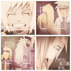We can make it through this, I'm still betting on you, Tsunade, Jiraiya, crying, sad, text, quote, young, childhood, different ages, time lapse; Naruto
