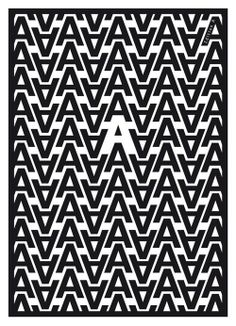 Typography poster by Tom Jaeger.I love how the letters were used to create an 'A' through negative space! Web Design, Typo Design, Graphic Design Typography, Design Art, Print Design, Typography Layout, Vintage Typography, Home Design, Creative Typography