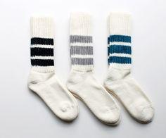 RoToTo Coarse Rib Line Socks