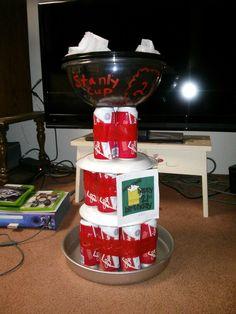 Great birthday present! Stanly cup award with beer! Kitchen Aid Mixer, Kitchen Appliances, Birthday Presents, Beer, Cake, Desserts, Gifts, Food, Diy Kitchen Appliances
