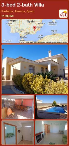 3-bed 2-bath Villa in Partaloa, Almeria, Spain ►€139,950 #PropertyForSaleInSpain