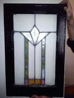 Antique Art Deco Stained Glass Window  I adore the beautiful simplicity of this small window.